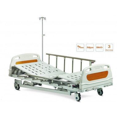 Cama Hospitalar Manual 3 movimentos AOLIKE - ALK06-A328P