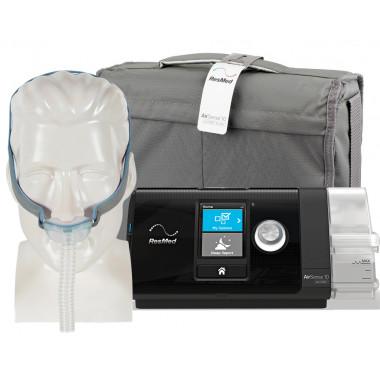 CPAP automático AirSense S10 AutoSet com Umidificador e Máscara nasal AirFit P10