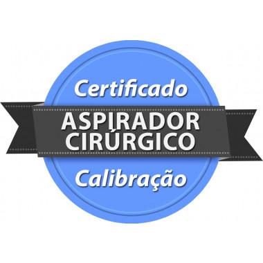 Calibração rastreada para Aspirador Cirúrgico