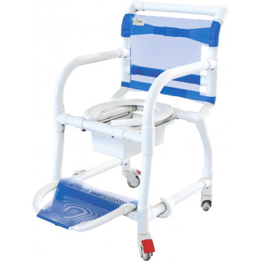 Cadeira De Banho Higiênica Em Pvc Braços Escamoteáveis - Carcilife