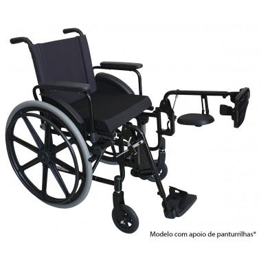 Cadeira de Rodas Dobrável em X com Opção de Apoio de Panturrilhas Ortomobil OS1