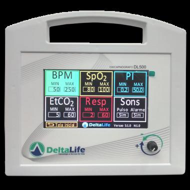 Capnógrafo com Oximetro DL500 Veterinário