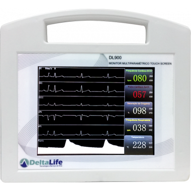 Monitor Multiparamétrico Veterinário DL900 Touch Screen