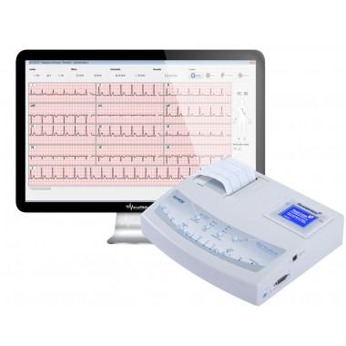 Eletrocardiógrafo Portátil Modelo ECG12S PC com Impressora Térmica