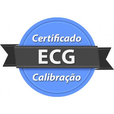Calibração rastreada para ECG Eletrocardiógrafo
