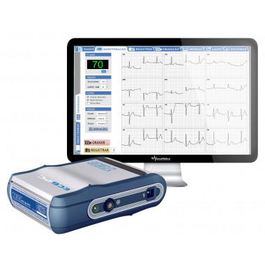 Eletrocardiógrafo de 12 derivações simultâneos para computador ECG PC - TEB