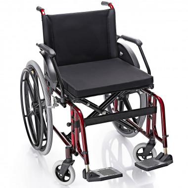 Cadeira de Rodas Confort Elite Obeso 52cm Vinho Metálico Cap. 130kg - Prolife