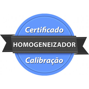 Calibração rastreada para Homogeneizador para bolsa de Sangue