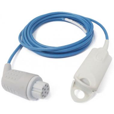 Sensor de Oximetria SPO2 Clipe de Dedo Adulto compatível com Monitor Datex