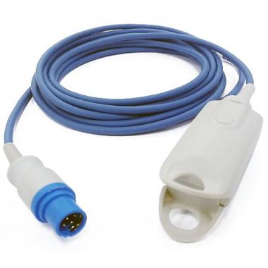 Sensor de Oximetria SPO2 Clipe de Dedo Adulto compatível com Monitor Drager