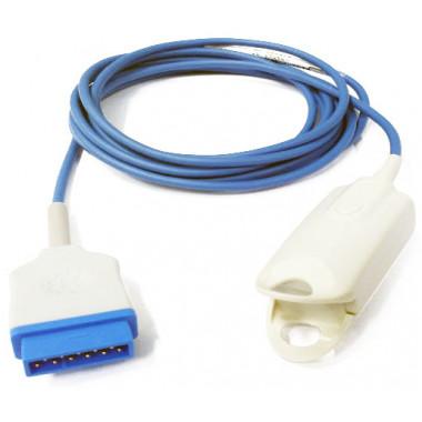 Sensor de Oximetria SPO2 Clipe de Dedo Adulto compatível com Monitor GE Marquette