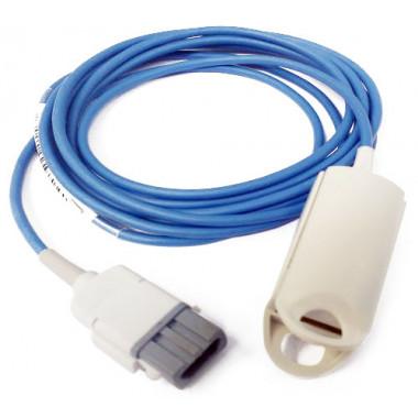 Sensor de Oximetria SPO2 Clipe de Dedo Adulto compatível com Monitor Trusat