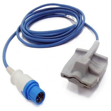 Sensor de Oximetria SPO2 de Dedo Soft Adulto compatível com Monitor Drager