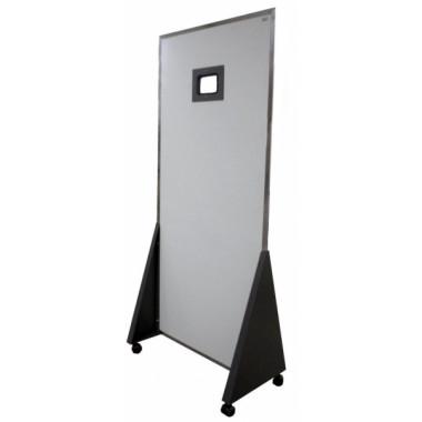 Biombo Reto 1800x800x2mm Com Visor Plumbífero