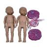 Simulador de Parto Gemelar com Placenta e Cordão Umbilical